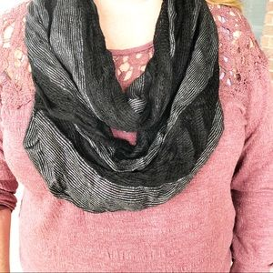 Rue 21 Black and Metallic Infinity Scarf